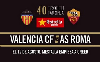Apuestas de Fútbol – Trofeo Naranja – Valencia vs Roma